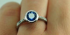Bezel-set-sapphire-engagement-ring