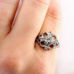 Milgrain Engagement Ring
