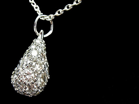 Hot off the Bench: Diamond & White Gold Teardrop Necklace