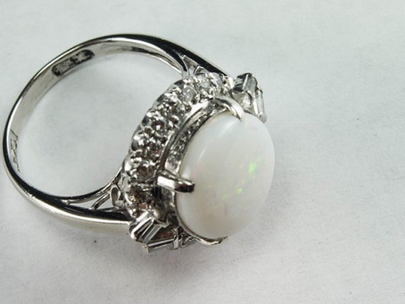 Jewelry Repair: Opal and white gold hand fabricated ring
