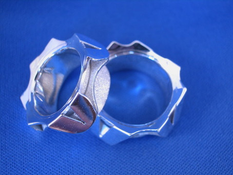 Silver Rings – Matching Pair of Hand Fabricated Sterling Rings