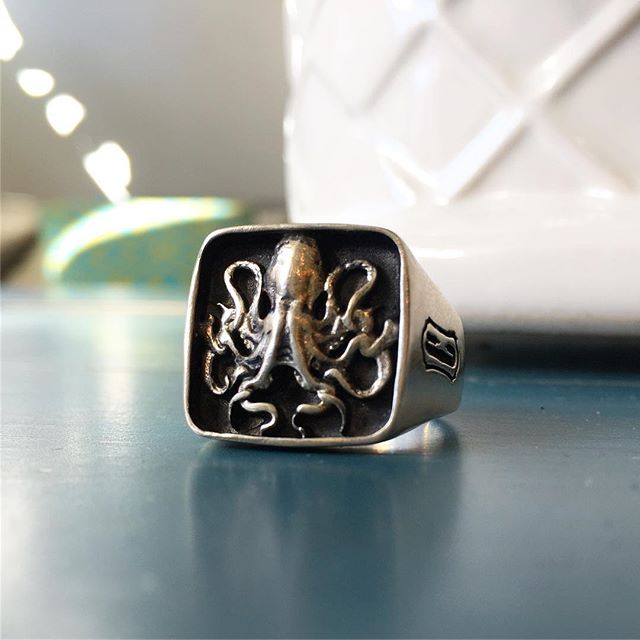 Octopus Biker Ring