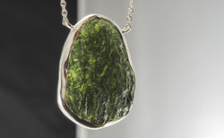 Bezeled Moldavite Necklace