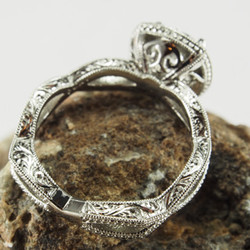 Hand Engraved Diamond Halo Infinity Ring