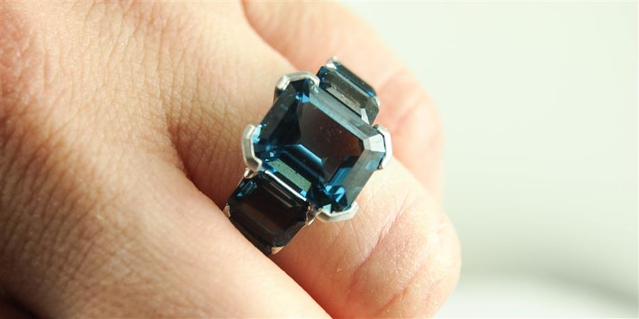 London Blue Topaz Ocean Ring