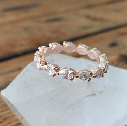 Pear Shaped Diamond Eternity Ring