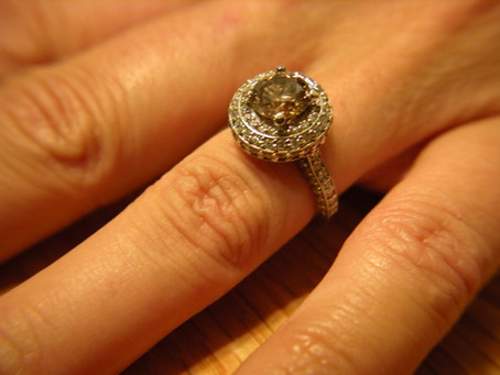 Fancy Brown Diamond White Gold Engagement Ring