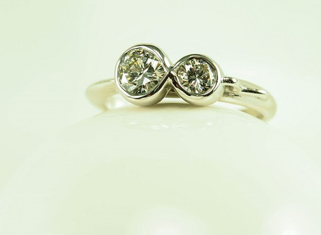 Hot off the Bench: Diamond Infinity Engagement Ring