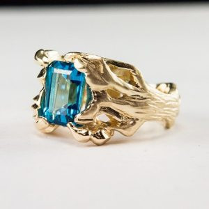 Blue Topaz Tree Ring
