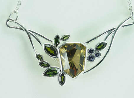 Hot off the Bench: Modern Art Nouveau Pendant