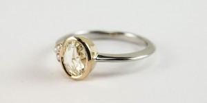 Rose Cut Diamond Ring Side1