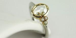 Rose Cut Diamond Ring Perspective