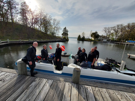 4/23 Nagawicka 1st Scuba Boat dive of year