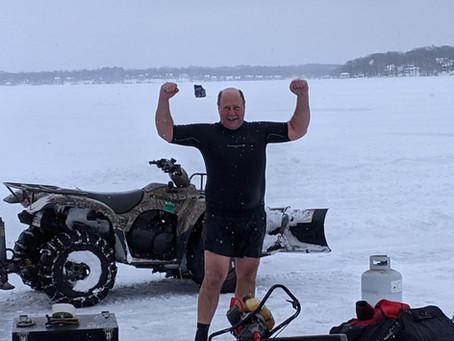 2nd Ice Dive Pewaukee Lake 1/31/21