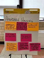Affordable Housing Brainstorming Sign