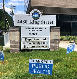 Alexandria Health Department Sign
