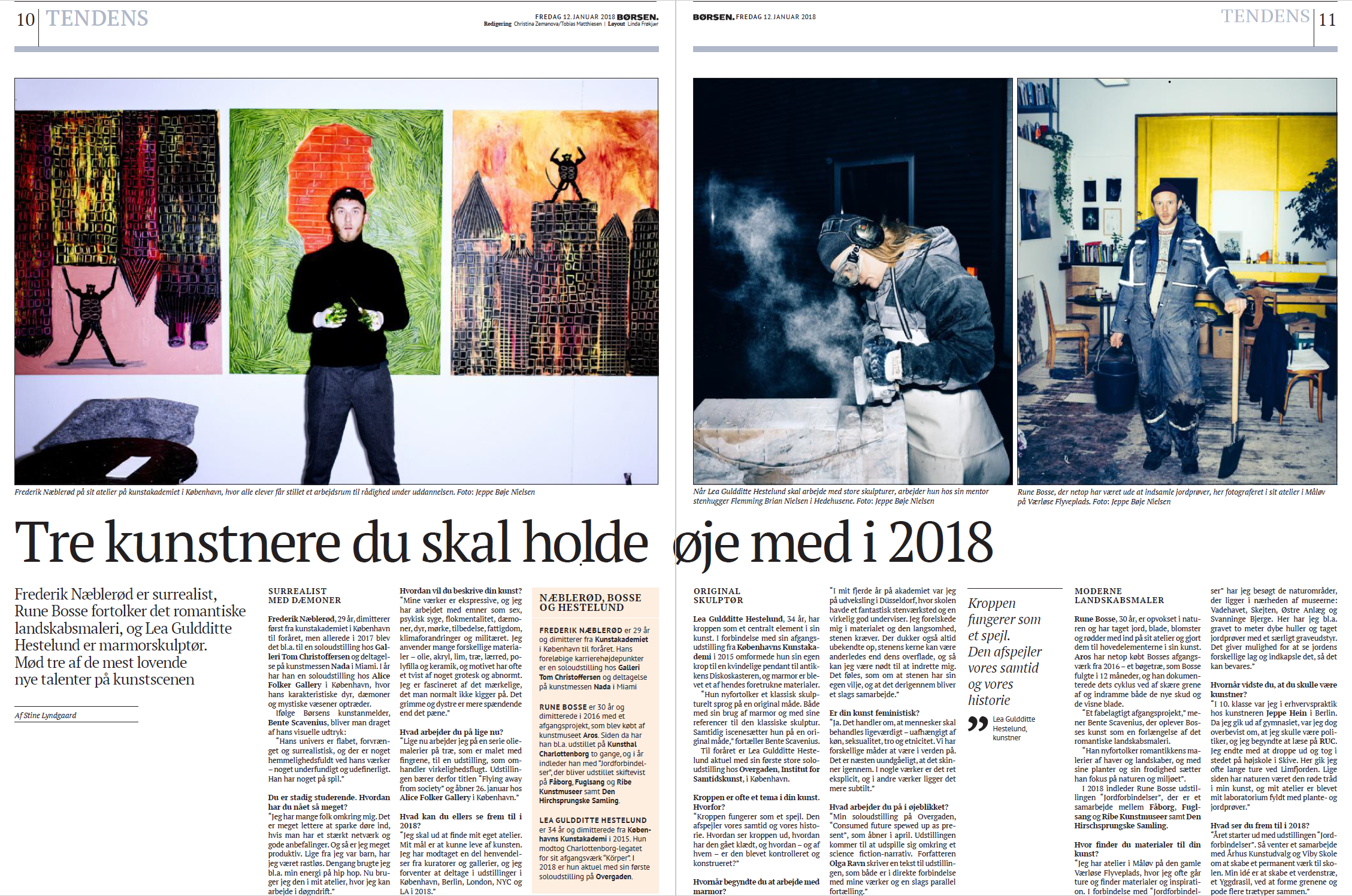 Børsen 12 January 2018