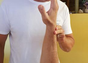 Teste muscular para detectar a origem da dor