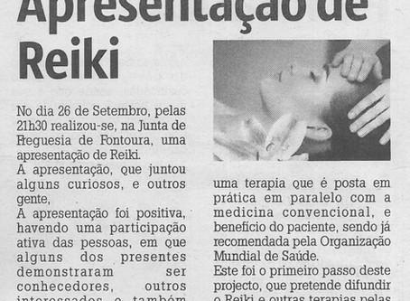 Apresentação de Reiki - Junta de Freguesia de Fontoura