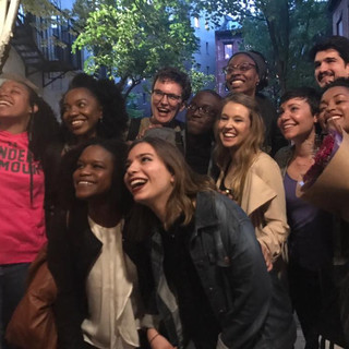 """Nick with cast and crew of """"The Protest"""""""
