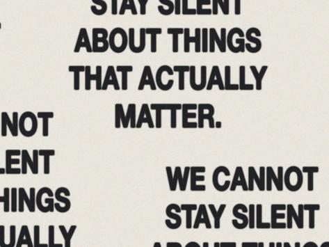 Det er ikke det vi siger. Det er alt det, vi ikke får sagt...