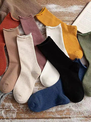 COTTON JERSEY SOCKS (SET OF 2 or 4)