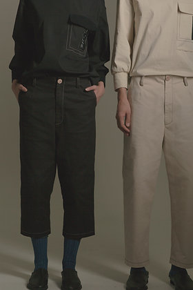 TOP-STITCHED COUPLE TROUSERS