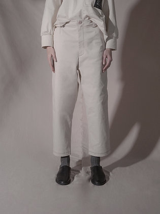 TOP-STITCHED TROUSER