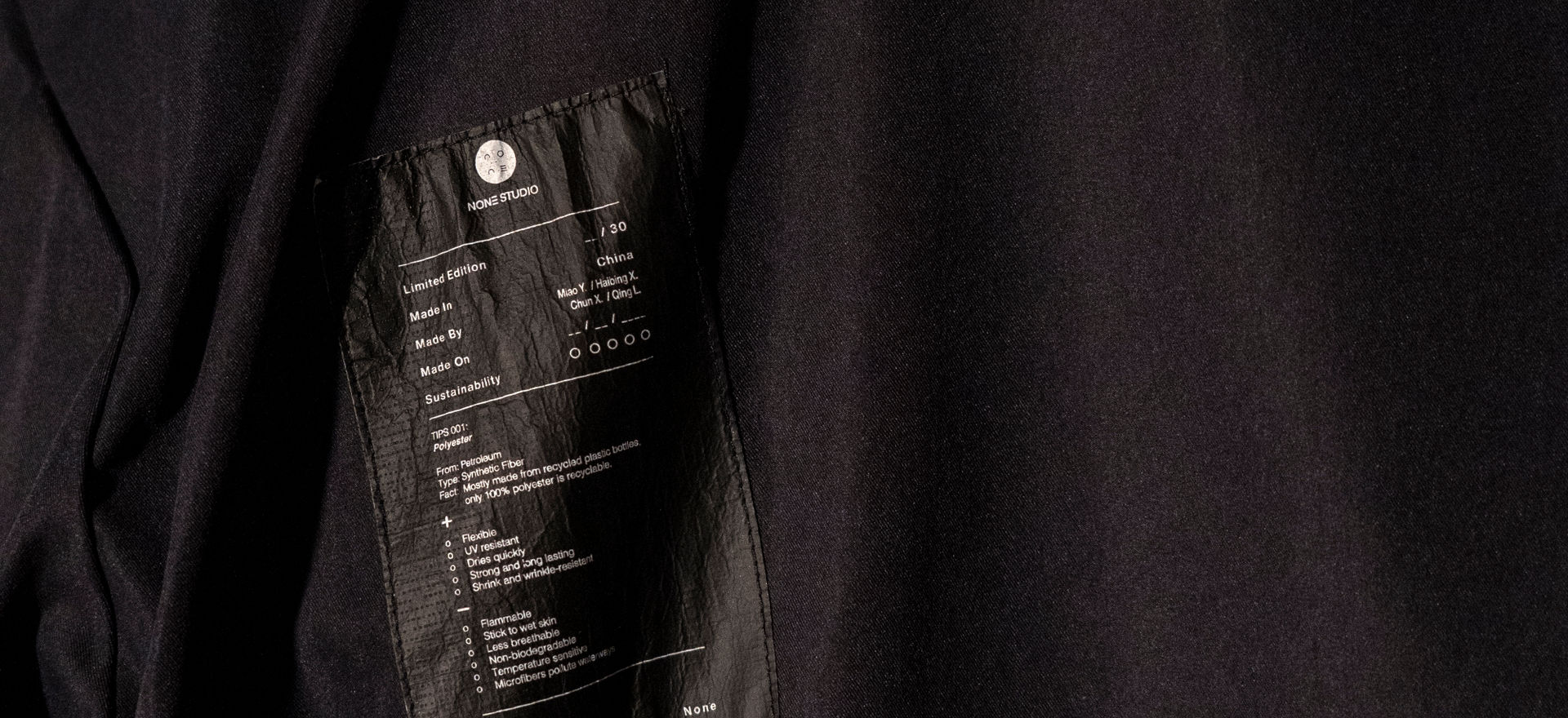 None Studio Clothing Tag