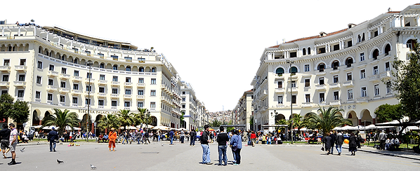 Thessaloniki tour - Aristotle Square- Macedonia