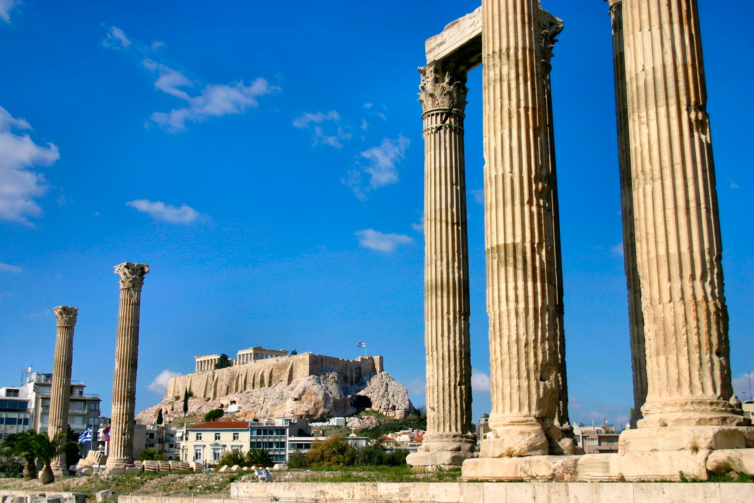 ZEUS TEMPLE & ACROPOLIS VIEW