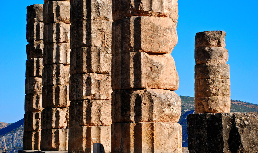 DELPHI APOLLO TEMPLE COLUMNS