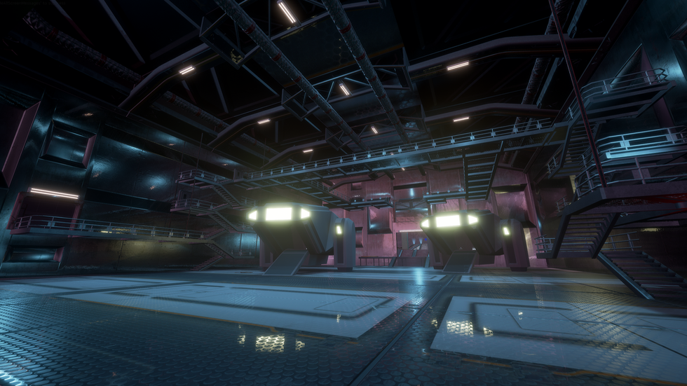 Hangar inside