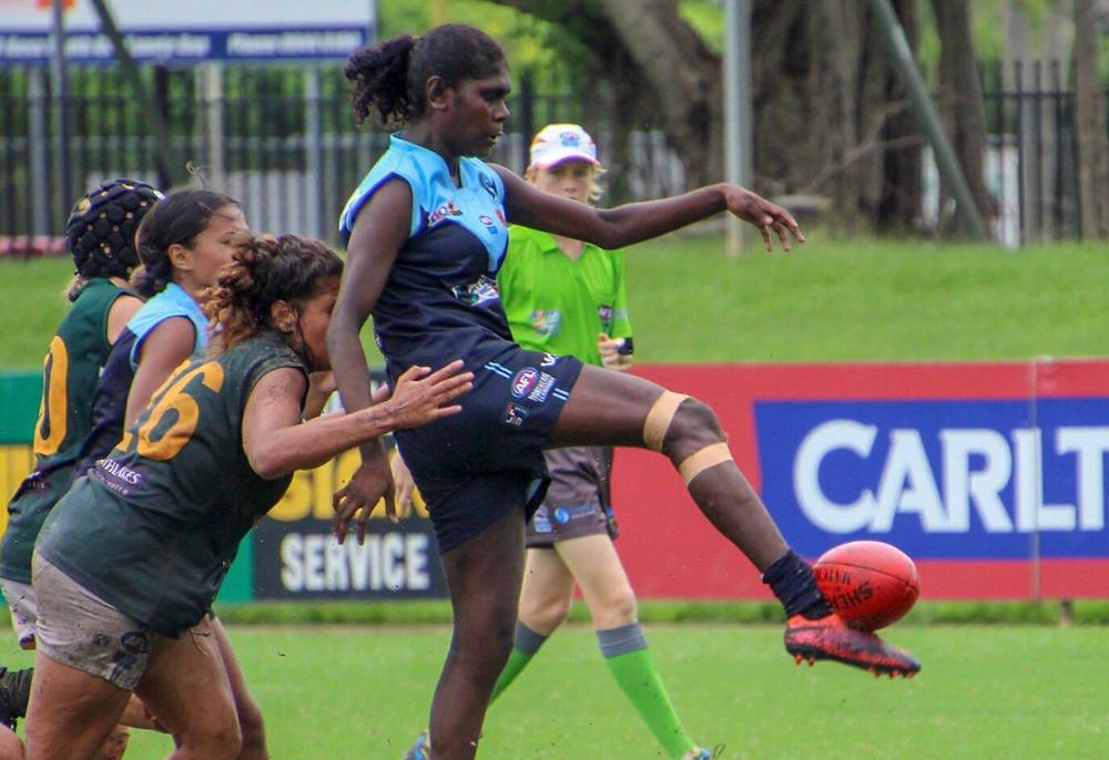 Shanita Garrawurra in action.