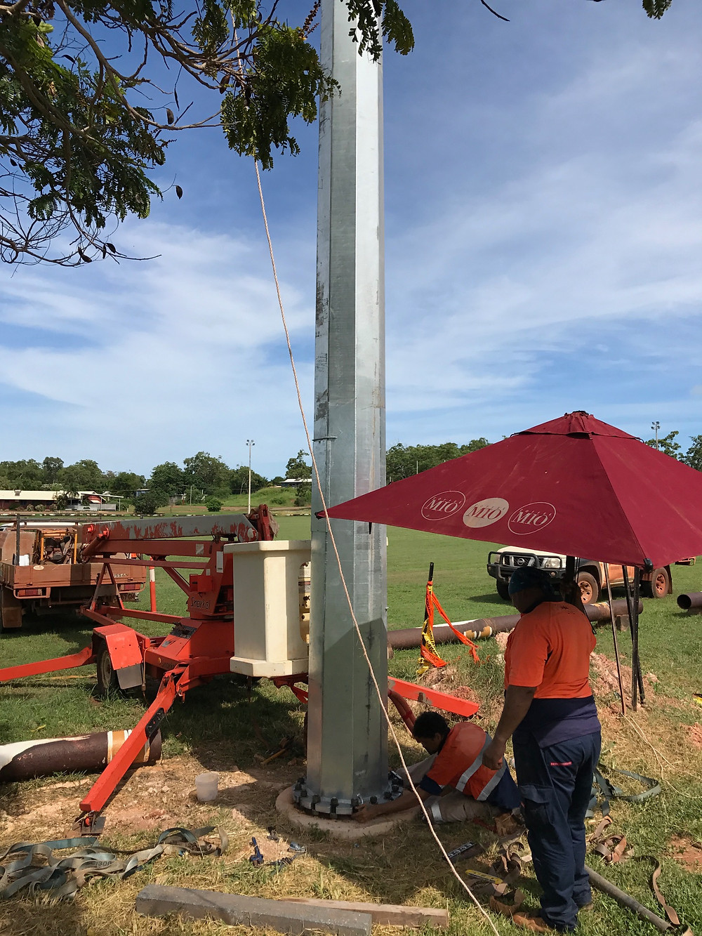 Light Tower Installation