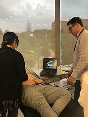 Aula pratica do curso de ultrassonografia point of care