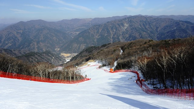 Virtual slalom racecourse — making of PyeongChang resort Olympic tracks