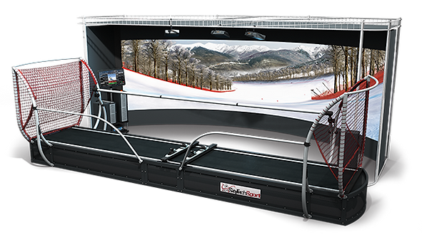 President Lux with VR — powerful alpine simulator for advanced and professional ski racers.