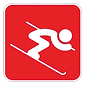 Downhill ski training of hips and legs, midback, shoulders