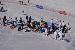 Детский чемпионат по горным лыжам в Корее
