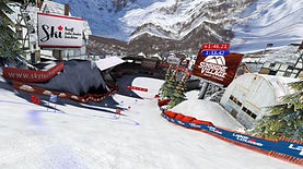 Virtual Reality branding for Events: billboards on ski slopes