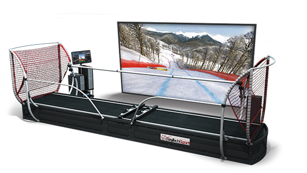 President Snow Sports Simulator: commercial model for teaching children and beginners to sports training for advanced skiers and snowboarders