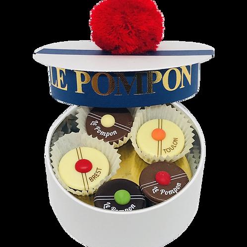 Pompon de Brest  Bachî de 10 pompons 砰砰海军帽巧克力小礼盒10个装