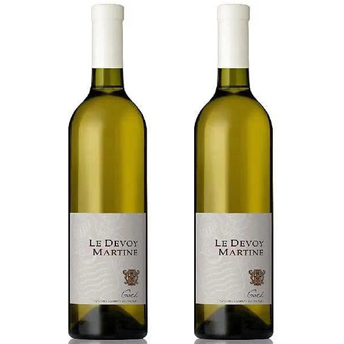 Château Le Devoy Martine COFFRET DUO 德沃伊马丁酒庄南罗纳河谷2019白葡萄酒 两瓶套组