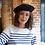 Thumbnail: Le Béret Français Modèle Mode + Pochette 时尚款红帽顶缎面衬里纯羊毛贝雷帽 赠防尘袋