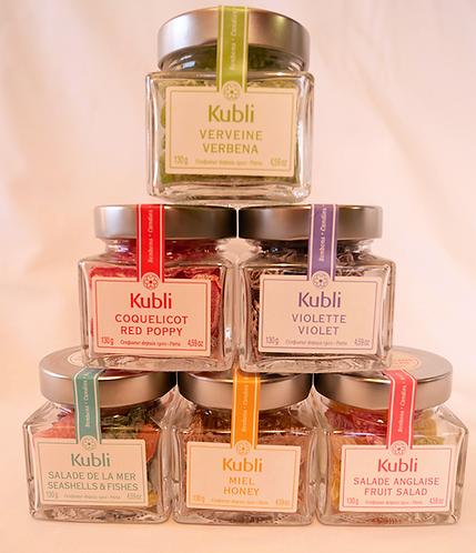 Kubli 2 COFFRETS TRIO DEGUSTATION 酷酷林手工彩色水果糖多口味方玻璃罐装 3个装 x 2个礼盒装