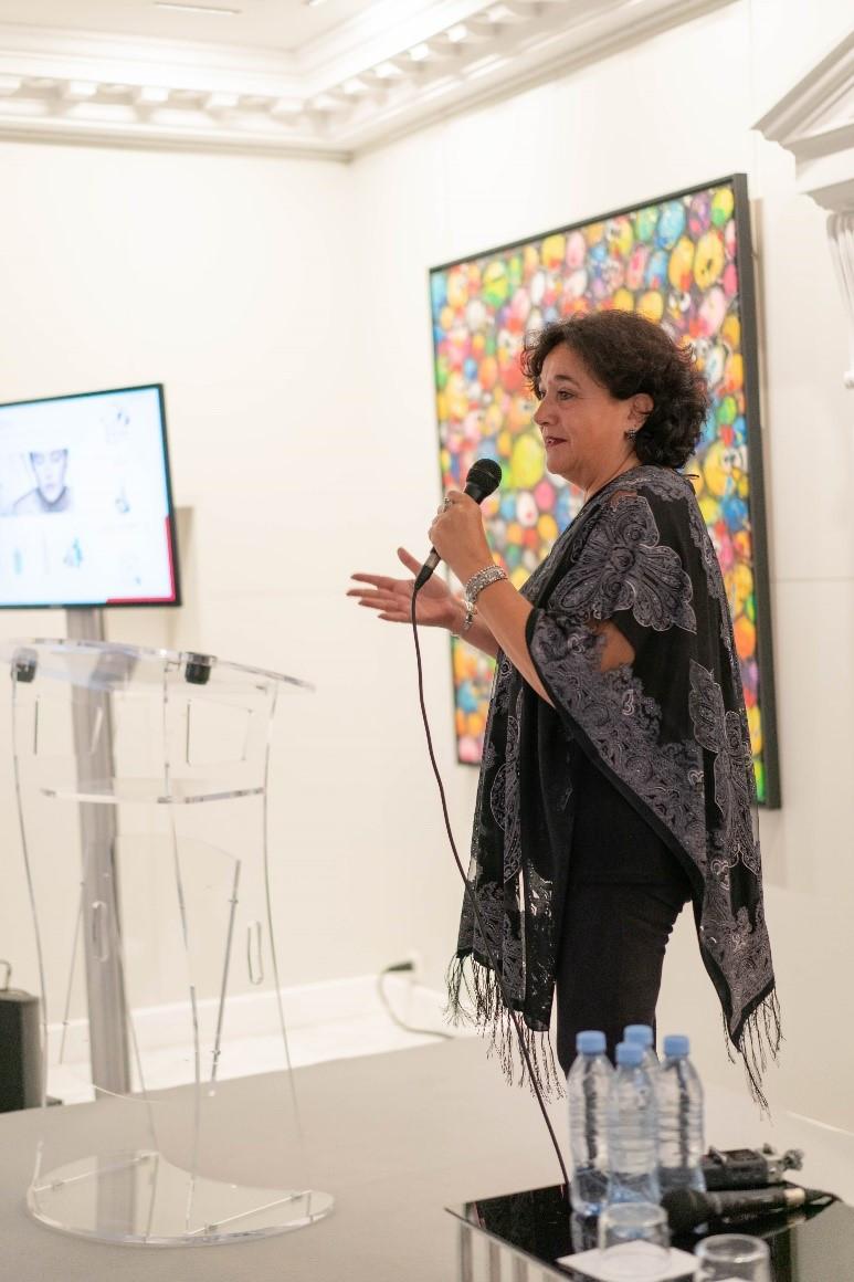 Marie-Pierre Arioli fondatrice de Référence Cosmétique  événement MaFrance avec Sophie Marceau
