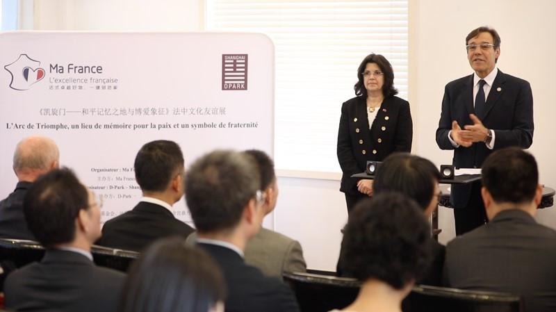 Florence Poulet Antoine Duarte MaFrance événement 5 novembre 2019 Shanghai exposition patrimoine français