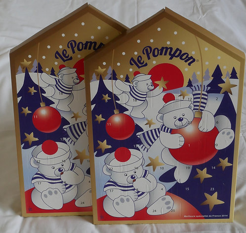 Pompon de Brest  COFFRET DE L'AVENT Coffret de 3 calendriers 砰砰圣诞迎新好运倒数日历 x 3超值套