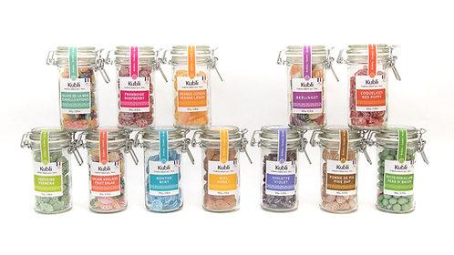 Kubli Gamme bocaux verre 酷酷林手工彩色水果糖长玻璃罐装 多口味可选 一罐